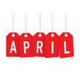 april overlapping tags vector image vector image