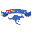 Australian ribbon symbol vector image vector image