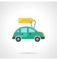 Automobile for sale flat color design icon vector image