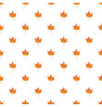 autumn maple leaf pattern seamless vector image