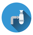 Bathroom siphon icon vector image