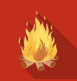 bonfiretent single icon in flat style vector image