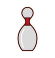 brightly bowling pin cartoon vector image