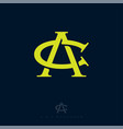 c and a monogram consist intertwined lines vector image vector image