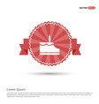 cake icon - red ribbon banner vector image vector image