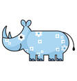 cartoon rhinoceros vector image