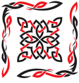 Celtic black and red ornament for design vector image vector image