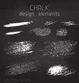 Chalk grunge elements vector image