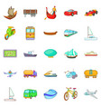changing world icons set cartoon style vector image vector image