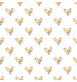 chicken pattern seamless vector image vector image