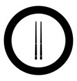 chinese chopsticks icon black color in circle vector image vector image