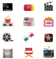 Cinema icon set vector | Price: 3 Credits (USD $3)