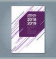 cover annual report 897 vector image vector image