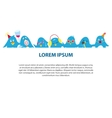 Cute penguins banner vector image vector image