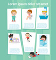 daily routine of child vector image vector image