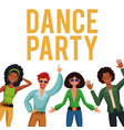 dance party people vector image