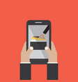 data stealing online on smartphone hacker concept vector image