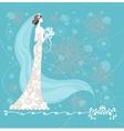Elegant bride vector image vector image