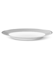 Empty simple classic plate isolated on a white vector image vector image
