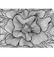 fantasy artistic beautiful flower coloring page vector image vector image