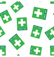 first aid sign icon seamless pattern background vector image