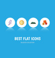 flat icon natural set of peak lightning canadian vector image vector image