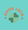 flat icon on stylish background good luck clover vector image