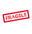 Fragile rubber stamp vector image