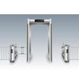 frame metal detector portal vector image