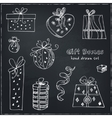 Gift boxes doodle set Vintage for vector image vector image