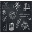 gift boxes doodle set vintage vector image vector image