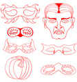 Halloween Mask Set vector image