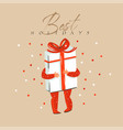 hand drawn abstract fun merry christmas and vector image vector image