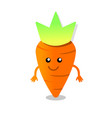 happy carrot character vector image