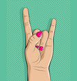 heavy metal hands vector image vector image