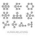 human relations simple charts vector image