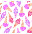 icecream seamless pattern 7 vector image vector image