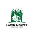 lawn mower logo icon vector image vector image
