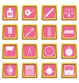measure precision icons pink vector image vector image