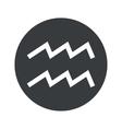 Monochrome round Aquarius icon vector image vector image