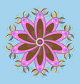ornamental floral pattern in flowers on blue vector image