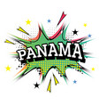 panama comic text in pop art style vector image vector image