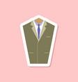 paper sticker on stylish background mans jacket vector image vector image
