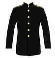 Police uniform jacket vector image vector image