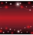 red background with light star vector image vector image