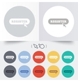 Register with cursor pointer icon Membership vector image vector image