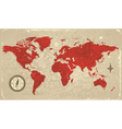 Retro map of the World vector image
