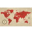 retro map world vector image