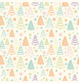 seamless christmas pattern with colorful vector image vector image