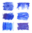 set navy blue watercolor backgrounds vector image